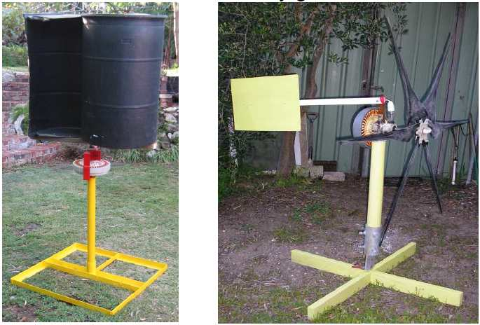 Wind Turbine Using Fisher And Paykel Washing Machine Motor